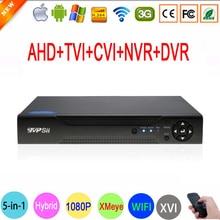 Hi3521A Сенсор, Металлический корпус, 16 каналов 1080P/1080N/960P/720P/960H, Гибридный, коаксиальный видеорегистратор. 5 в 1 ( TVi CVI NVR AHD DVR ). Видеорегистратор для наблюдения. Беcплатная доставка.