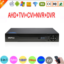 XMeye Hi3521A 16 Channel 16CH 1080N 5 in 1 Coaxial Hybrid Wifi TVi CVI IP NVR AHD DVR For 1080P Surveillance Camera FreeShipping