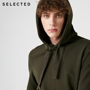 Image 4 - Seleccionado de los hombres 100% Jersey de algodón Color puro Sudadera con capucha cordón sudaderas con capucha ropa S