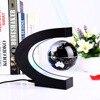2017 Novelty Creative C Shape Magnetic Levitation Lamp With Globe World Map Colorful LED Abajur Decoration