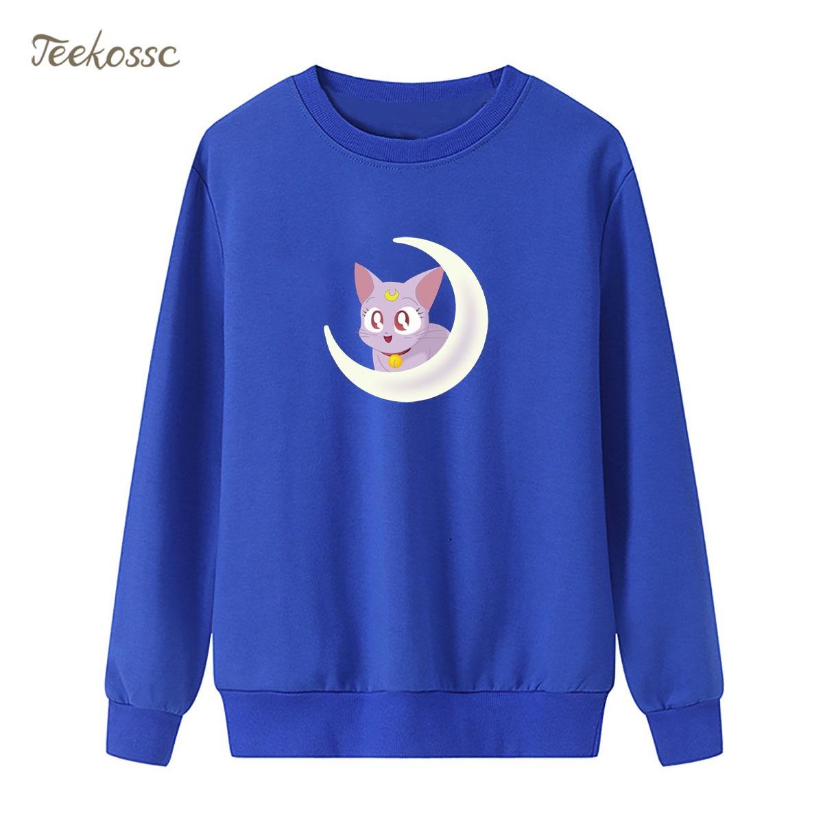 Cartoon Sailor Moon Super S Women Sweatshirt Print Cute Hoodie 2018 Winter Autumn Lasdie Pullover Loose Fleece kawaii Streetwear