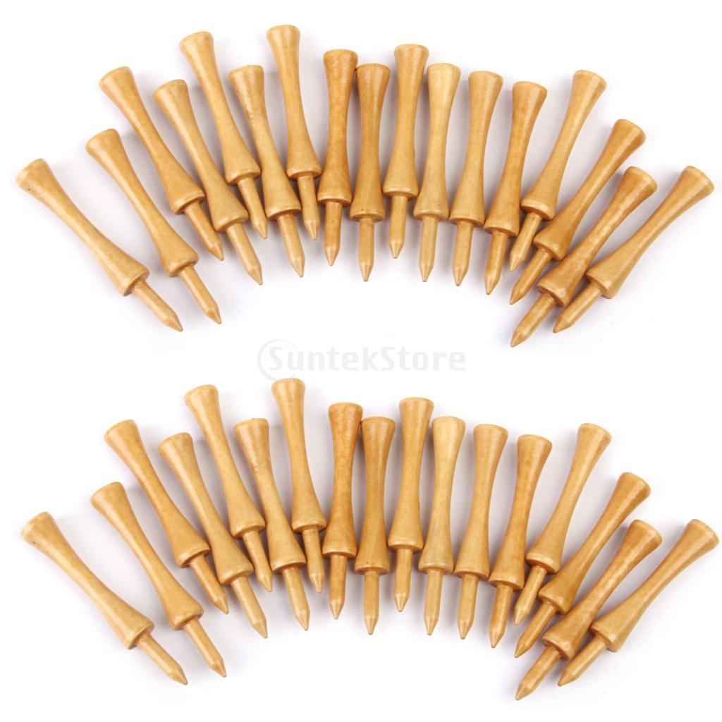 Professional Wooden Castle/Step Golf Tees 69MM Long 100Pcs Burlywood