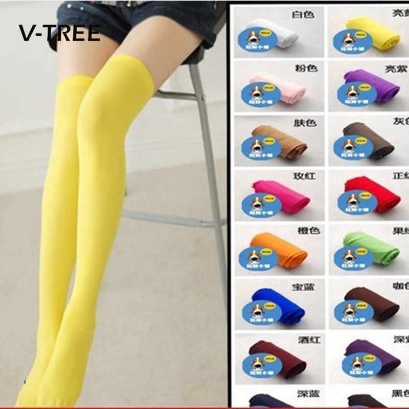 7e9e87a00 Detail Feedback Questions about V TREE Kids Girls Sock Knee Length Candy  Color Socks For Baby Girls Children Child Long Socks Over Knee Girl Socks  on ...