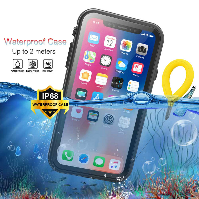 IP68 WaterProof Case for Coque iPhone XR XS Max Case 360 Protect PC Hard Skin for Apple iPhone X'R XMax XsMax Water Proof Cover