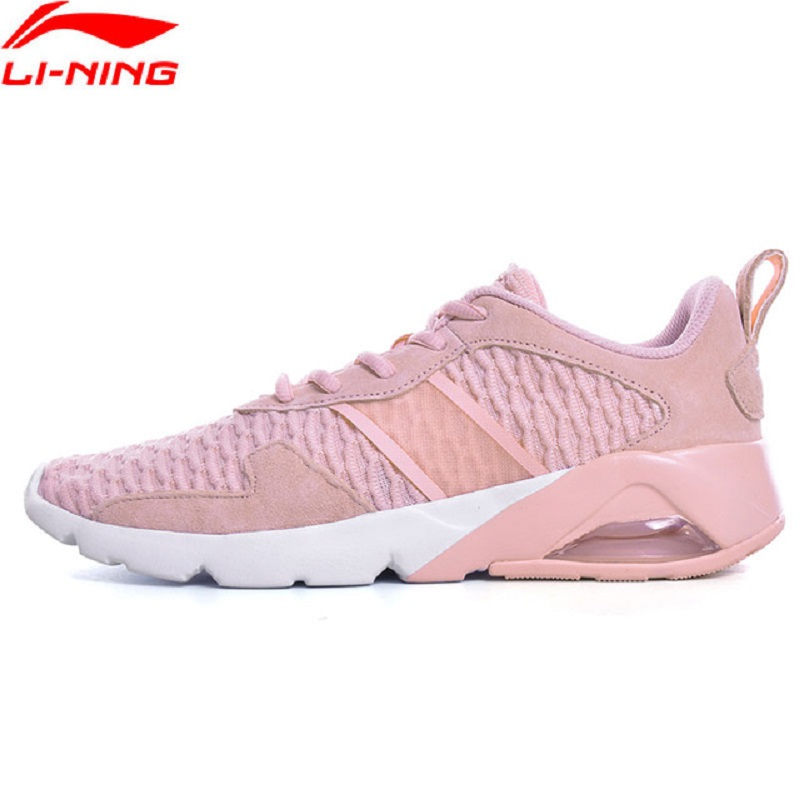 Li-Ning 2018 Women's Sports Life Walking Jogging Shoes Cushion Breathable Li Ning Comfortable Sneakers Sports Shoes GLKN036 li ning outdoor sports life series wear resisting breathable young steady sport shoes sneakers walking shoes men alck021 xmr1052