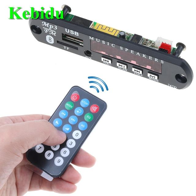 Kebidu MP3 WMA Board Giải Mã Âm Thanh Mô-đun DC 5 v 12 v 24 v Không Dây Bluetooth USB TF Đài Phát Thanh Xe âm nhạc MP3 Cho Car Kit Bán Buôn