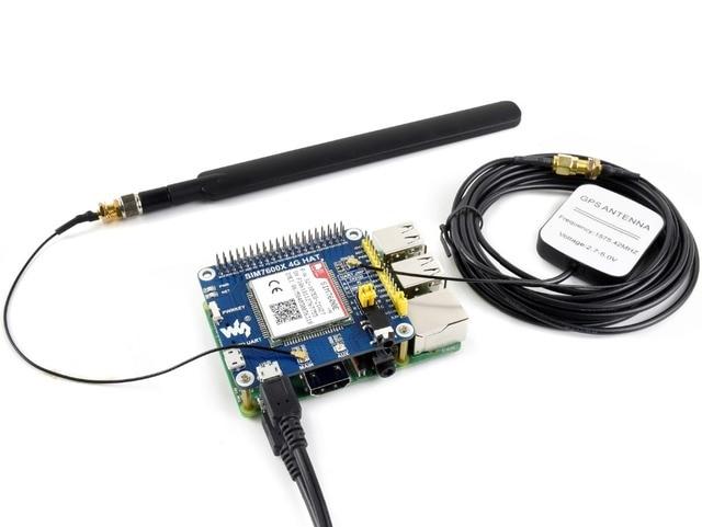 Waveshare 4G/3G/2G/GSM/GPRS/GNSS HAT ahududu Pi sıfır /sıfır W/sıfır WH/2B/3B/3B +, tabanlı SIM7600E H, destek dial up