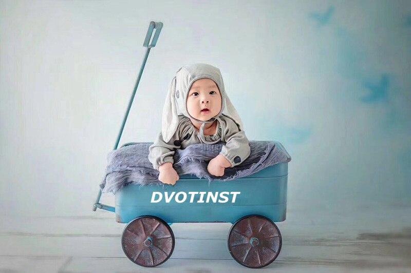 Accessoires de photographie de bébé Dvotinst accessoires de chariot de voiture en fer accessoire Fotografia accessoire pour bébé en bas âge Studio de prise de vue accessoires de Photo cadeau