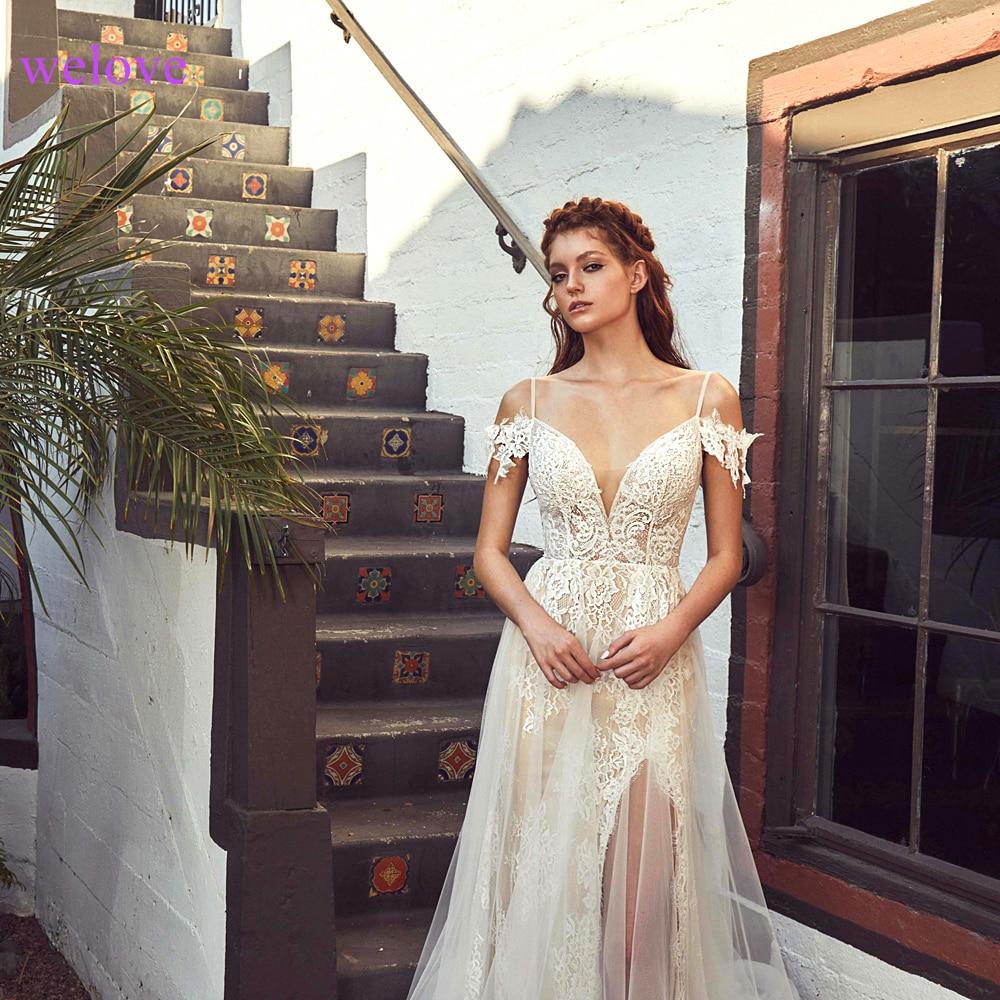 White Backless Lace Mermaid Wedding Dresses 2019  New Sexy Fishtail Wedding Gown Bride Dress Vestido De Noiva Robe De Mariage