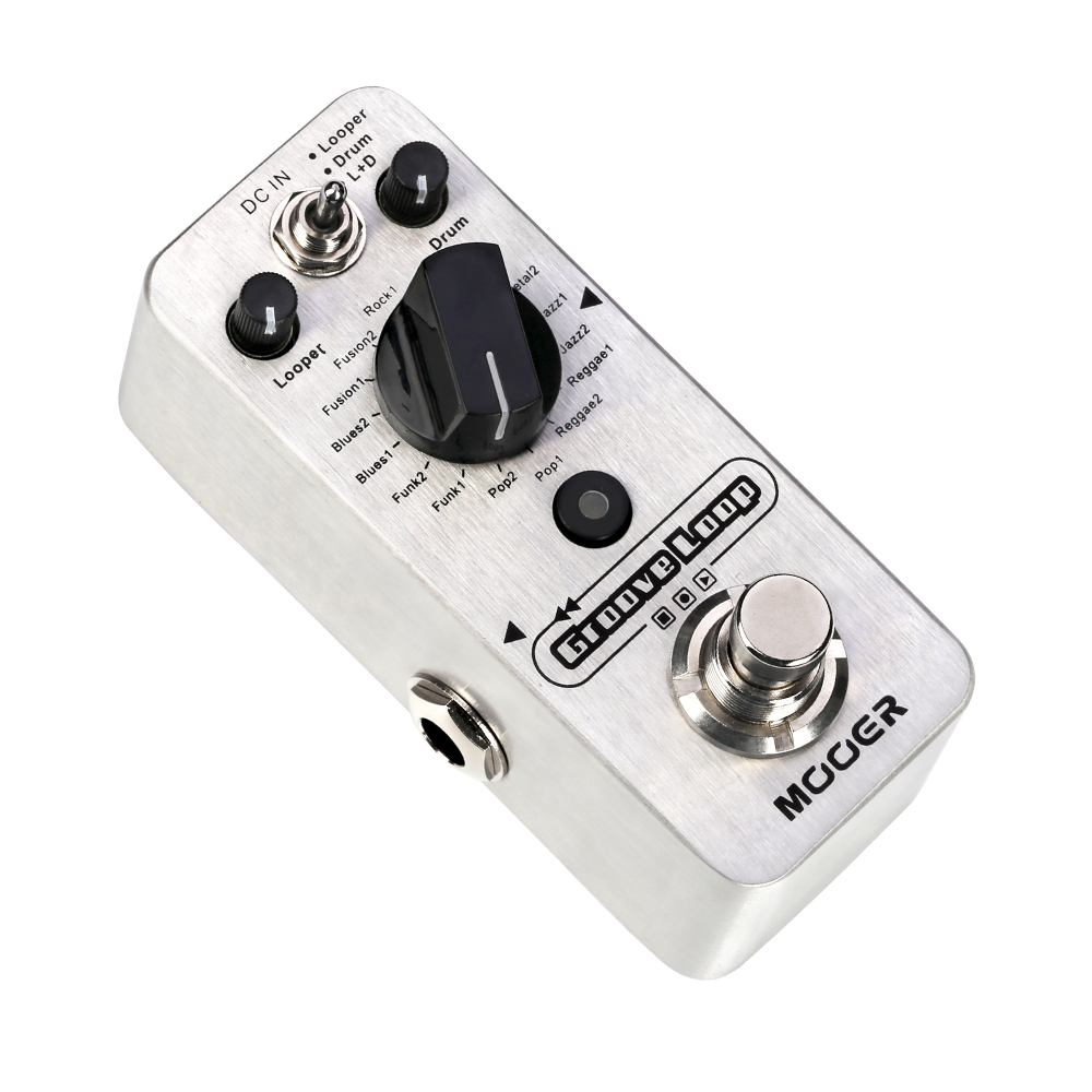 Mooer Groove Loop Tap Tempo Control Drum Machine Acoustic Electric Bass Guitar Effects Pedal electric guitar effector multi function guitar composition upgrade stylesound tuner drum machine integrated digital effects