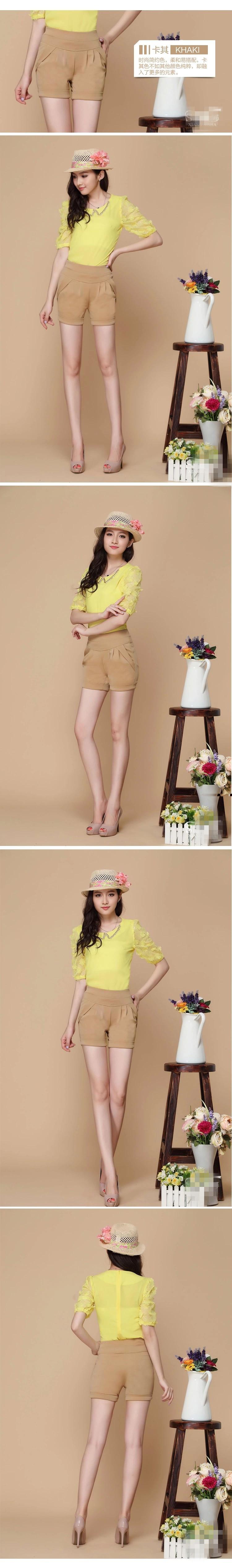 17 Summer Stretch Shorts Women Casual High Waist Shorts for Female Fat Plus Size Woman Clothing Beach Women's cotton Shorts 7