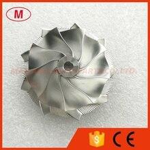 GT15 25 702549 0008HF V1 고성능 터보 알루미늄 2618/Piont 밀링/빌렛 컴프레서 휠 50.20/65.00mm 9 + 0 블레이드