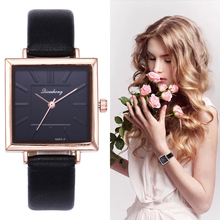 Brand Women Watches Fashion Square Dial Embossed Dress Leather Band Quartz Wrist Watches Ladies Bracelet Watch gaiety g336 women watch leather band flowers dial quartz watch golden