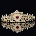 Chic Estilo Barroco de Cristal Tiara De Noiva Prom Pegeant Coroa Headband Do Cabelo Jóias