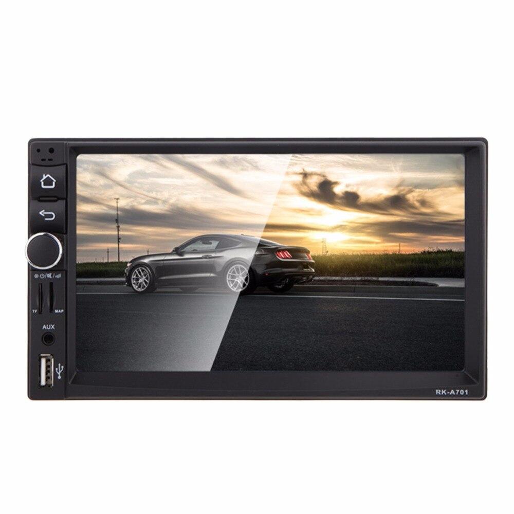 Универсальный 1024*600 12 В 7 дюймов 2 Дин mp3 mp5 плеер Авто Радио 4 ядра 16 г памяти GPS Bluetooth Сенсорный экран игрок автомобиля