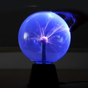 Image 5 - מנורות מנורת גלוב חשמלי סטטי כדור פלזמה סאונד רגיש 8 Inch כדור זכוכית מנורת לילה אור חידוש צעצוע לילדים פלזמה
