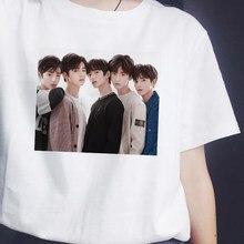 Kpop ídolos txt 2019 camisetas femininas casual harajuku impresso branco tshirt topos t camisa de verão do sexo feminino t camisa de manga curta