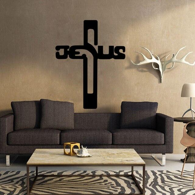 4130 Christan Gott Kreuz Wandkunst Aufkleber Jesus Christus Psalm Beten  Bibel Schlafzimmer Wandbild Für Schlafzimmer