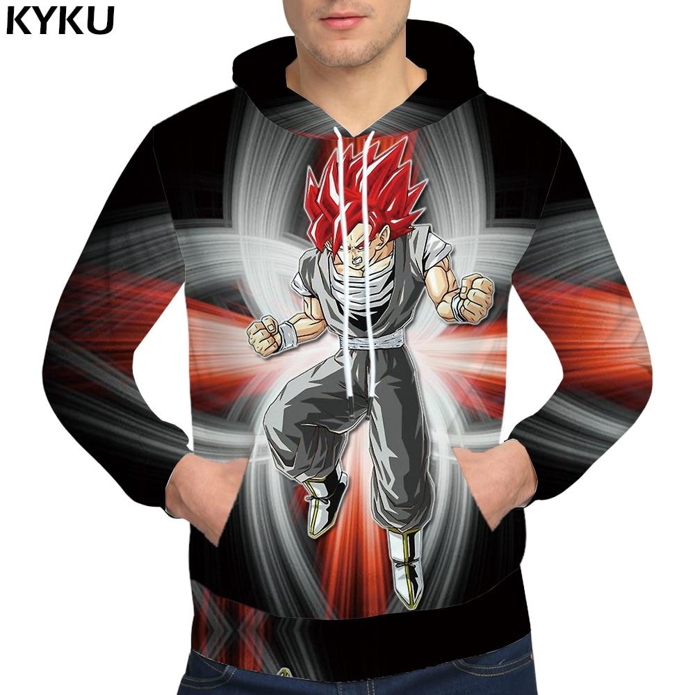 KYKU Brand Dragon Ball Z Sweatshirts Goku Sweatshirts Male Fierce 3d hoodies Starry Sky Sweat shirt 3D Hoodie Clothing Men