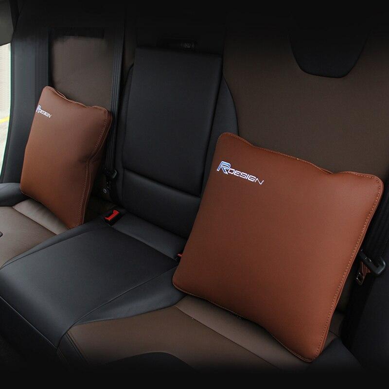 авто одеяло Натуральная кожа RDESIGN автомобиля подголовник шеи Поддержка спины поддержка автомобиля подушки для Volvo хс60 хс90 S60 и V60 на на V40 S80 и С30