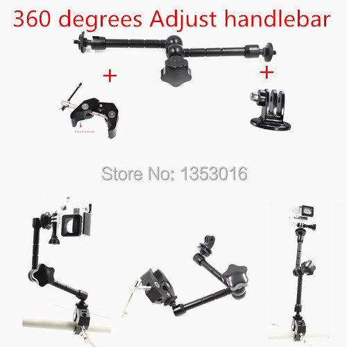 Gopro Accessories 360 Degree Adjustment Arm Mount Adapter