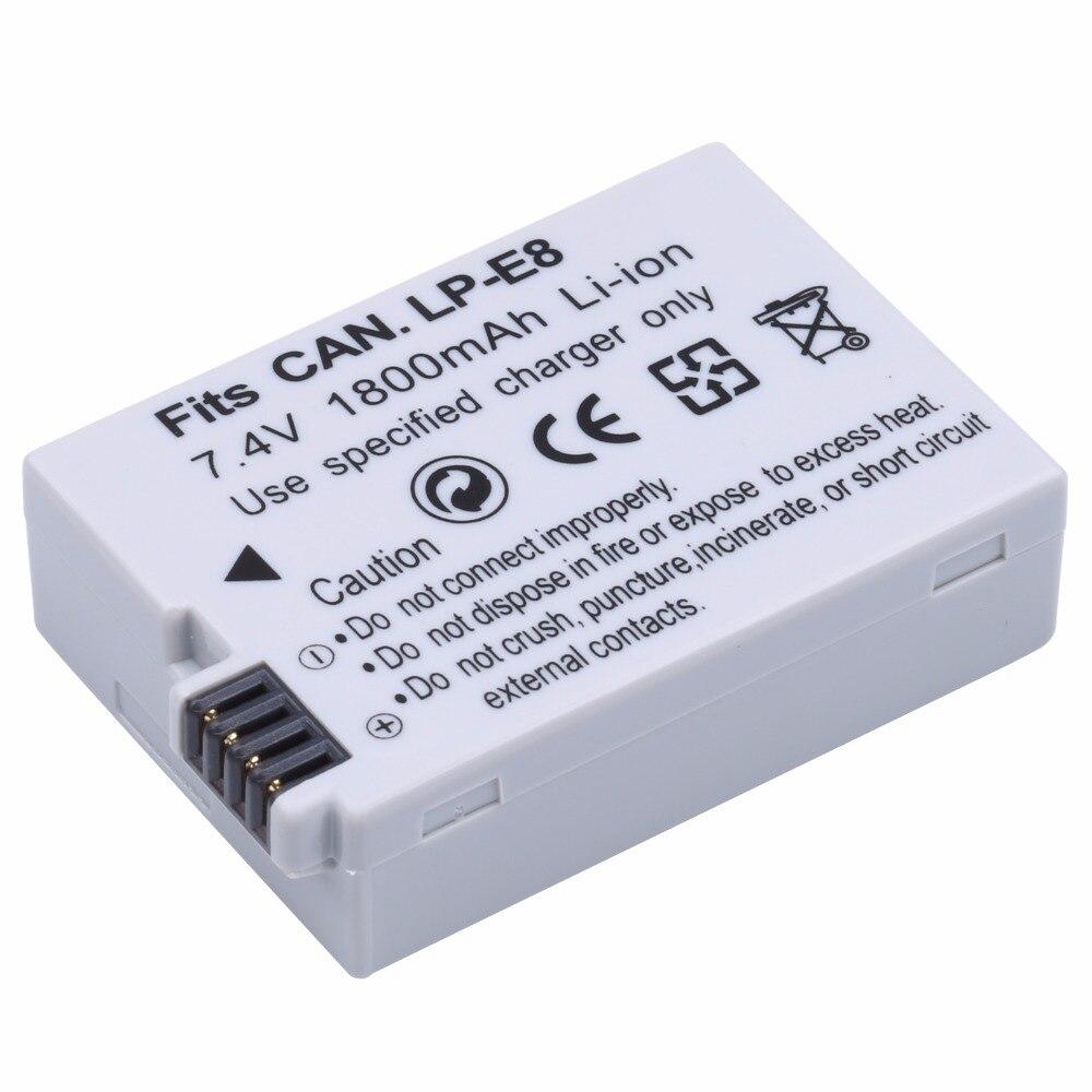 Probty LP-E8 LPE8 LPE8 Caméra Batteries AKKU Pack Pour Canon 550D 600D 650D 700D X4 X5 X6i X7i T2i T3i T4i T5i DSLR Caméra