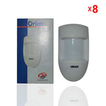 8 Pcs/lot Home Alarm System PIR Motion Detector Alarm Wired Passive Infrared Wide-angle/horizontal For Free Shipping