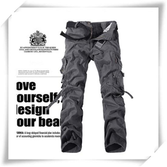 мужская свободного покроя армия армия грузовая работа нескольких карманы брюк брюки 5 цветов сплошной цвет свободного покроя брюки бесплатная доставка
