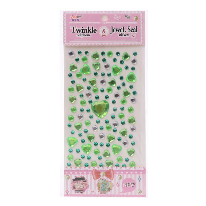 HBB 1 шт. сердце Форма стикер в виде бриллианта, кристалла DIY Наклейка Мобильный Art самоклеющиеся Скрапбукинг Стикеры «s», детская игрушка - Цвет: C