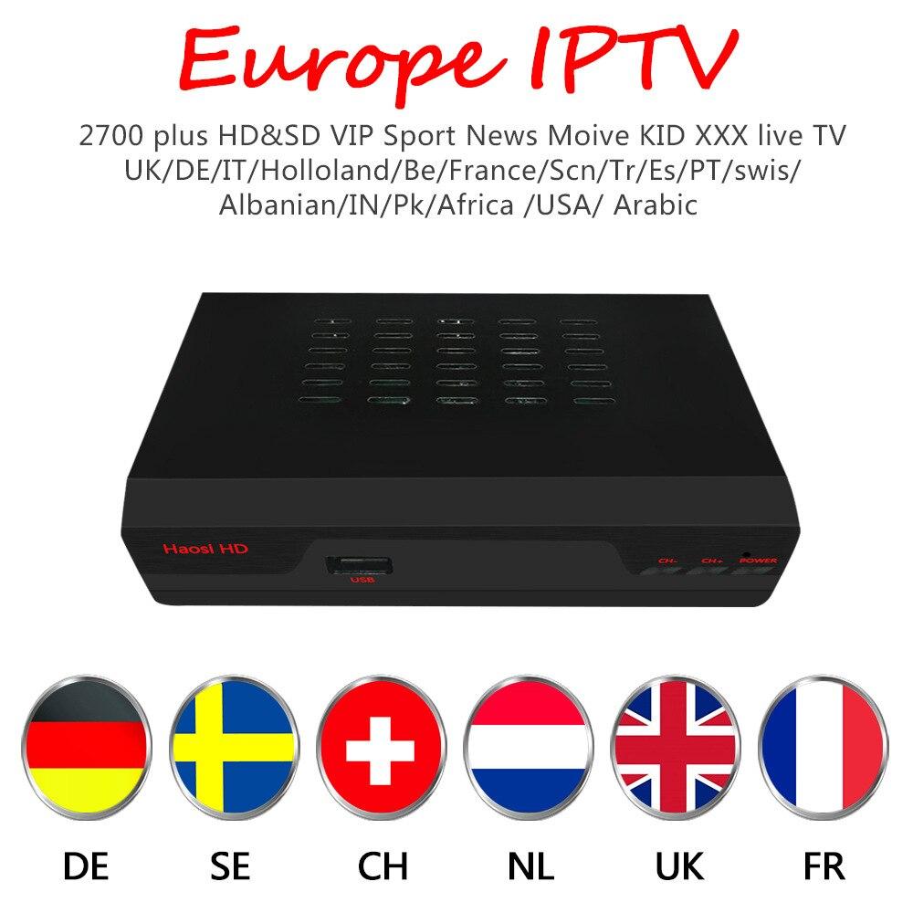 2018 HAOSIHD árabe iptv R1 iptv europa con 1 año de suscripción iptv gratis 3500 suecia portugal españa África chs iptv italia