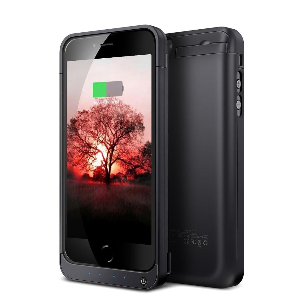 bilder für SQDeal Hohe Kapazität 4200 mAh Externe Batterie Fall Energienbank power Ladegerät Fall für iPhone 5 S 5 SE LED & kick Ständer & USB Port