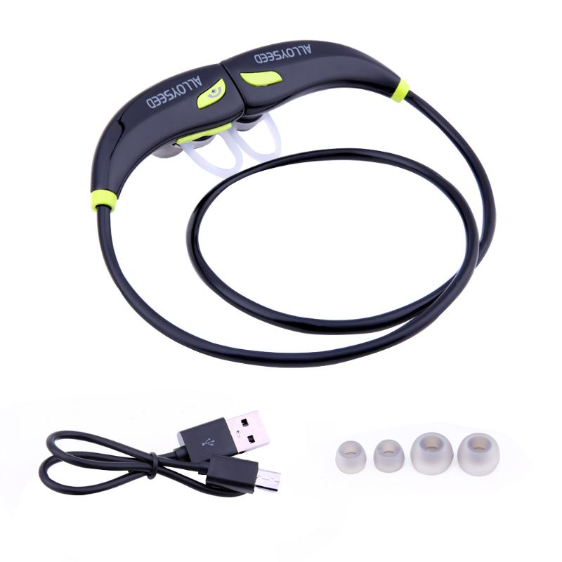 ALLOYSEED SM809 Bluetooth Headphones Bluetooth 4.0 Wireless Headphones Stereo Sports Earbuds Sweatproof In-Ear Headsets
