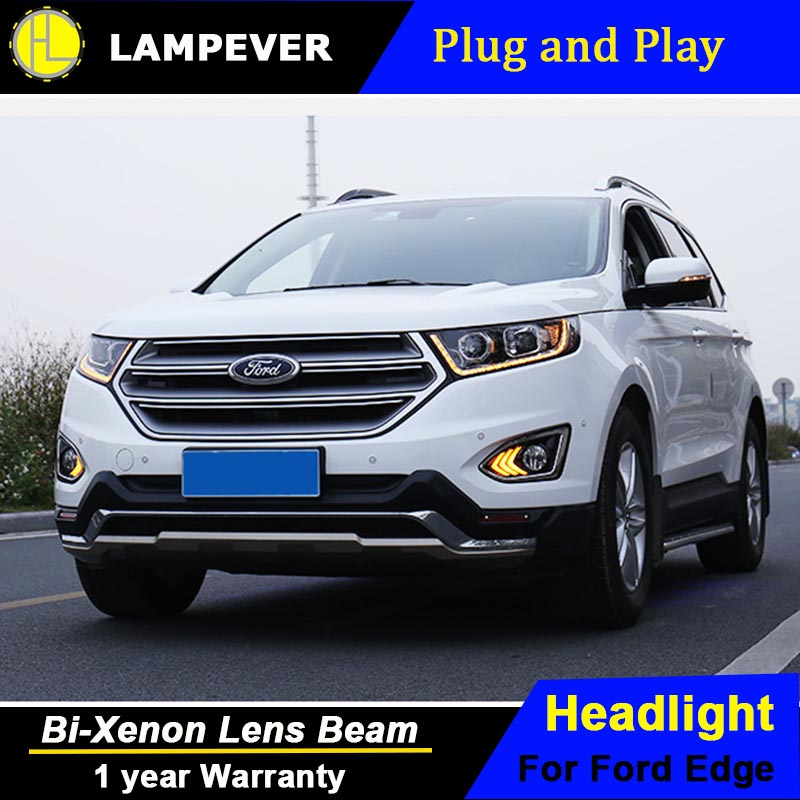 Hlc Head Lamp For Ford Edge Headlights 2015 2016 2017 New
