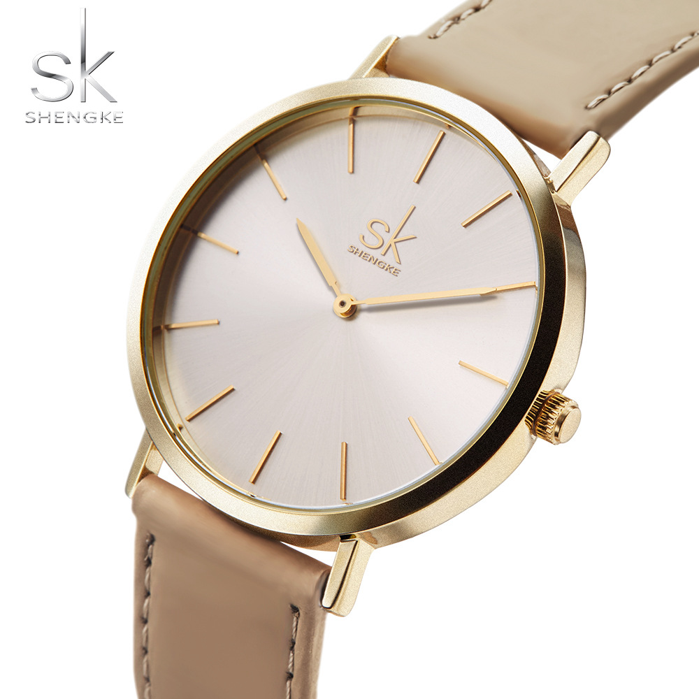 2018 Shengke Brand New Fashion Watches Top Famous Sky Blue Q