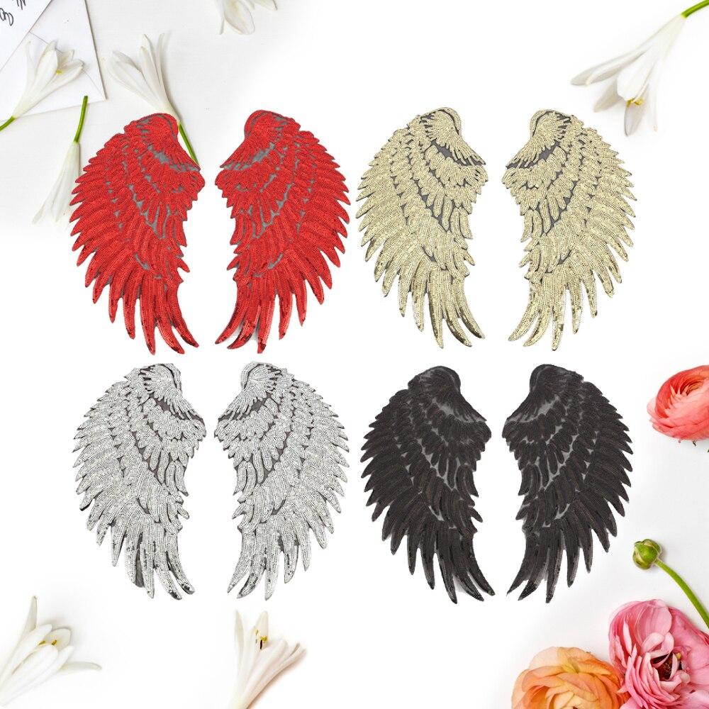 3 páry / šarže Zlatá stříbrná švů Patch DIY Anjelská - Umění, řemesla a šití