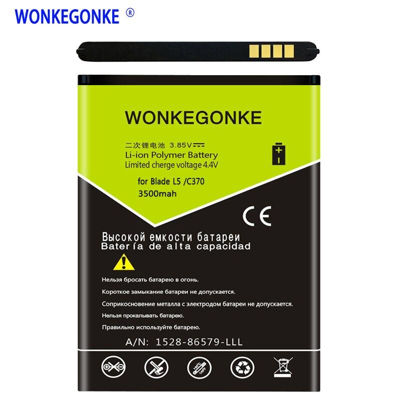 WONKEGONKE Li3821T43P3h745741 bateria para Lâmina ZTE L5 L 5 PLUS C370 Baterias Bateria