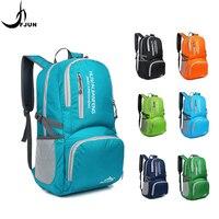 Уличная сумка, спортивные складные сумки, светильник, водонепроницаемая нейлоновая дорожная сумка, портативный рюкзак, Одноцветный, дышащи...