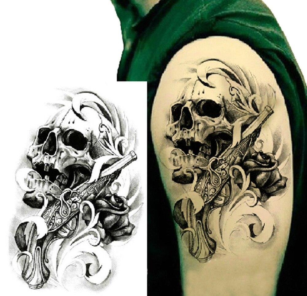 12 Unidslote 3d Impermeable Cuerpo Brazo Pierna Arte Tatuaje