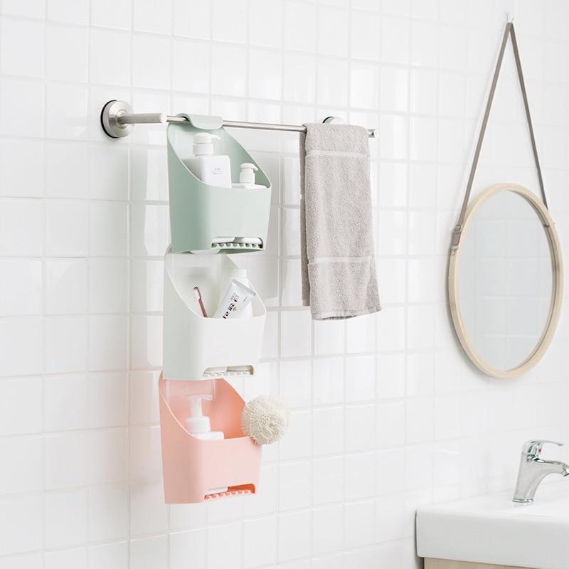 LIYIMENG drenaje baño estante cosmético organizador de cocina esponja  titular de la toalla jabón percha toalla caja de almacenamiento en Estantes  y ... 7924927fc1fa