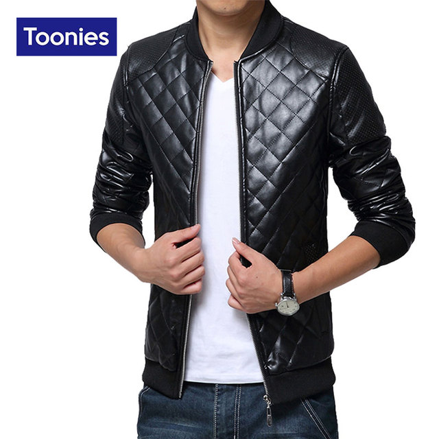 Leather Jacket Men Motorcycle Jacket Zipper Coat Brand Clothing Mens Leather Jacket Coat Long Sleeved Streetwear Chaqueta Moto
