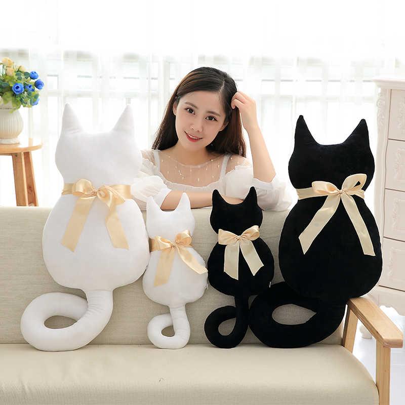 45-100 ซม.สีขาวสีดำแมวตุ๊กตาตุ๊กตาของเล่นตุ๊กตาตุ๊กตาคุณภาพสูงแฟนของขวัญ Fast การจัดส่งหมอน CAT Shadow