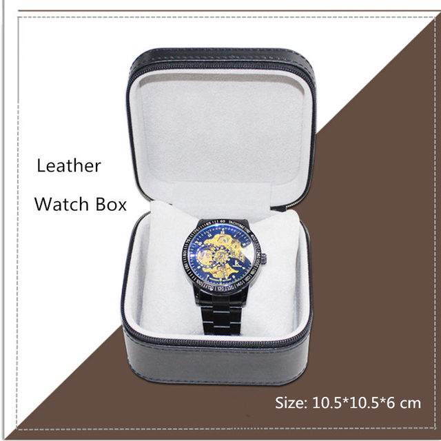 Square Shaped Watch Leather Boxes