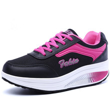 YeddaMavis Running Shoes Black Women Sneakers New Thick Bottom Lace Up Mesh Woman Zapatos De Mujer