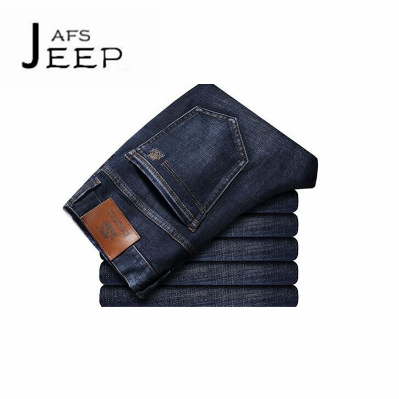 AFS JEEP Real Man's Back Pockets Brand Denim Jeans,Wholesale Price Fall Breathe Straight Elasticity Active Denim bottoms cottons afs jeep chariot 2016 autumn man s denim cotton jeans back pockets fashion man s leisure mid waist jeans fall cow boy s jeans