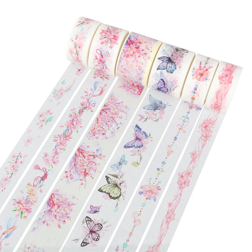 Sakura Season Washi Tape DIY Decor Planners Scrapbooking Sticker Making Paper Decoration Tape Adhesive School Party Supplies