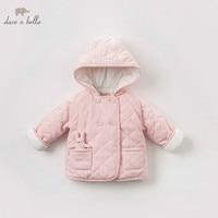DBH9172 dave bella baby girl winter pink jacket children outerwear fashion coat
