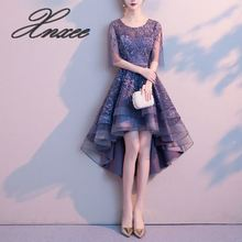 2019 new noble and elegant dignified atmospheric ladies short dress female was thin 2019 ladies flower dress noble and elegant