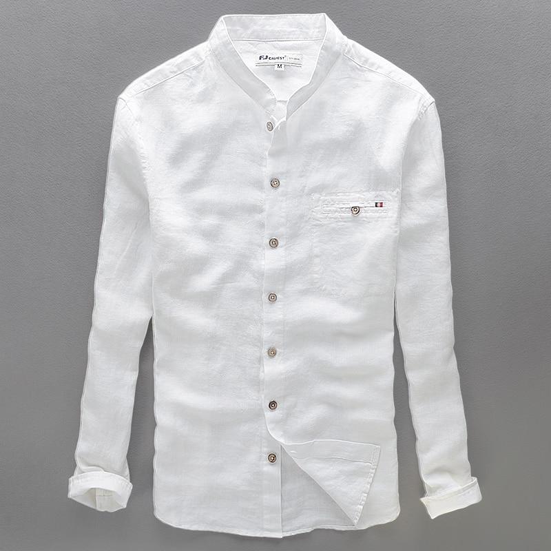 2017 casual brand shirt men 100 linen men shirt long for Men s dress shirt accessories