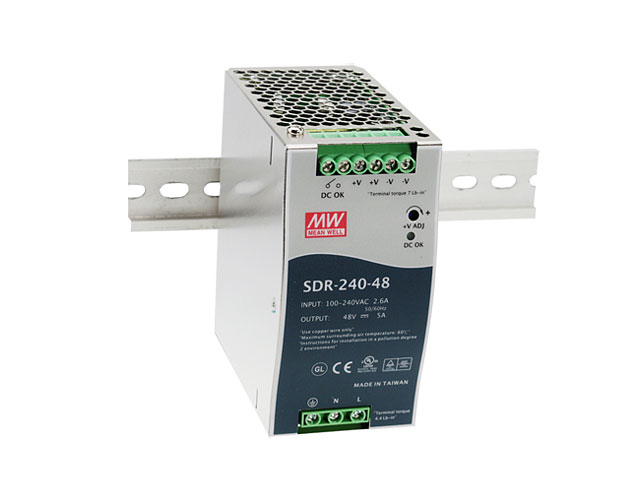 [PowerNex] MEAN WELL original SDR-240-24 24V 10A meanwell SDR-240 240W Single Output Industrial DIN RAIL with PFC Power Supply все цены