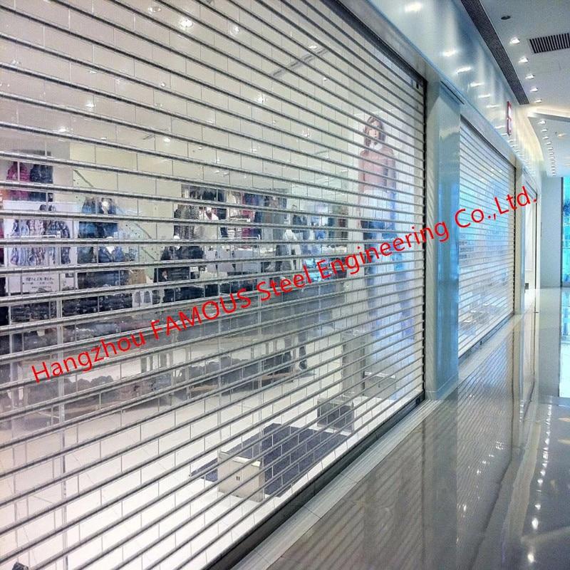 Luxury Transparent Crystal Roller Shutter Door With Aluminum Pipe Acrylic Glass High Speed Door